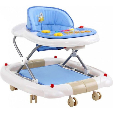 Farlin 2-in-1 Baby Walker/Rocker w/o Brake Pads - Blue:Totsworld Pte Ltd