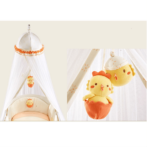 Crowned Love Baby Crib Mosquito Net With Toys