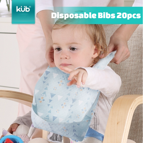 KUB Disposable Bibs 20pcs Per Box:Totsworld Pte Ltd
