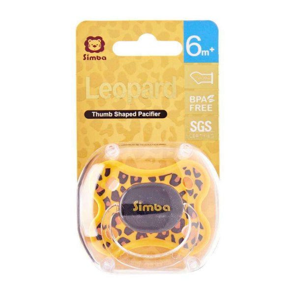 Simba Leopard Spots Thumb Shaped Pacifier:6 months:Totsworld Pte Ltd