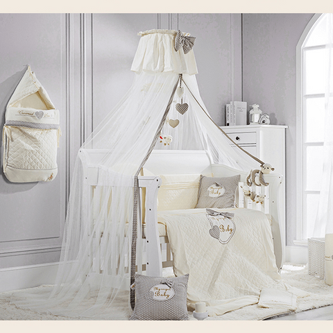 Crowned Love Baby Crib Mosquito Net With Toys:Totsworld Pte Ltd