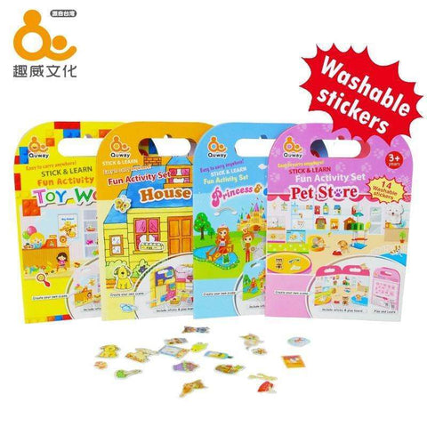 Quway Stick and Learn Fun Activity Set - Washable Stickers:Totsworld Pte Ltd