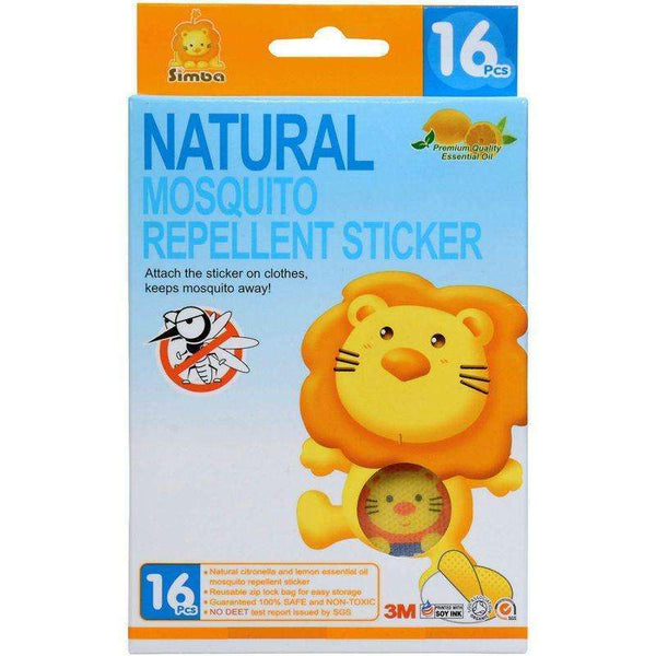 Herbal Essential Oil Mosquito Repellent Sticker - 16pcs:Totsworld Pte Ltd
