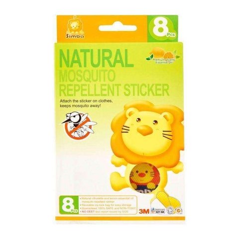 Herbal Essential Oil Mosquito Repellent Sticker 8pcs:Totsworld Pte Ltd