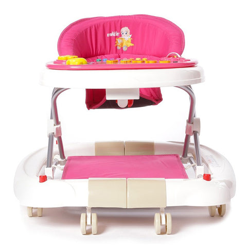 Farlin 2-in-1 Baby Walker/Rocker w/o Brake Pads - Pink:Totsworld Pte Ltd
