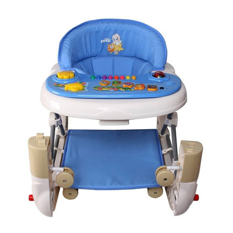 xFarlin 2-in-1 Baby Walker/Rocker w/o Brake Pads - Blue