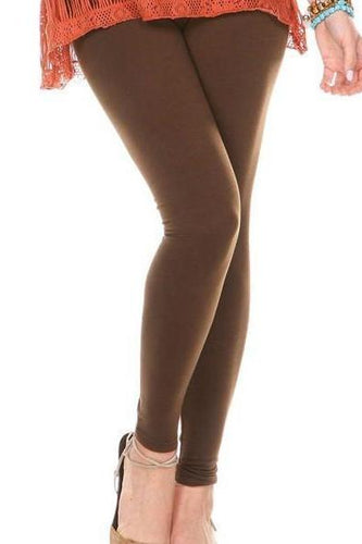 Solid Color Leggings Full Length