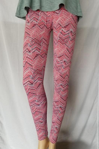 Leggings Multi Color Dots Zig-Zag Print