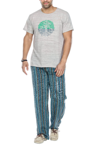 YOGA MEDITATION STRIPED LOUNGING PANTS
