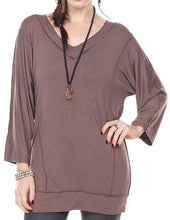 STYLISH BATWING TOP V-NECK