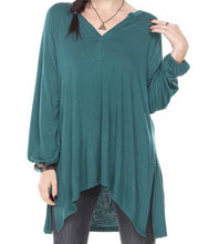 COMFY TUNIC TOP OVERSIZE FIT LONG SLEEVE