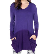 OMBRE TUNIC TOP WITH POCKETS