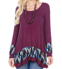 TUNIC TOP WITH APPLIQUE