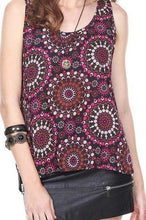 Mandala Print Tunic Top