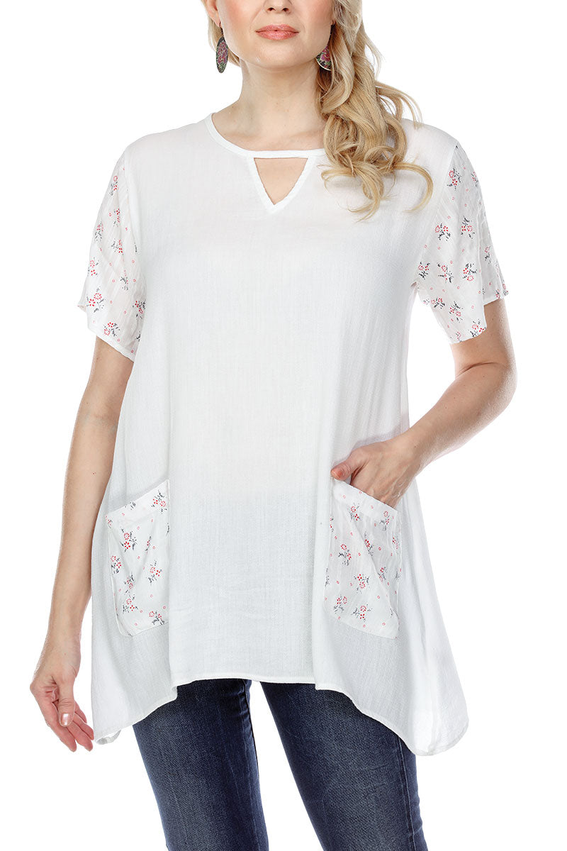 Tunic Top Loose Fit Floral Print