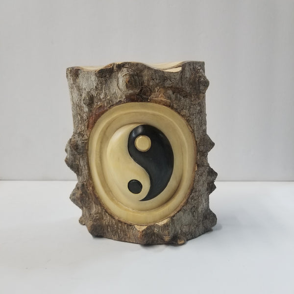 Yin Yang Wooden Carved