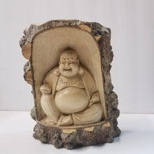 Statue | Home Decoration | Laughing Buddha Wooden Carved Hotei