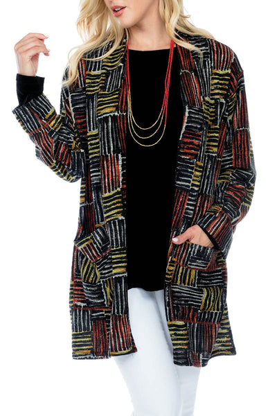 Cardigan Loose Fit Colorful Print