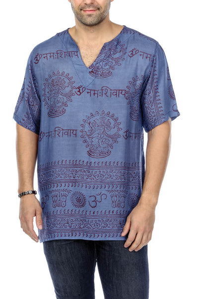 V-NECK COTTON MEDITATION YOGA SHORT SLEEVE SHIRT