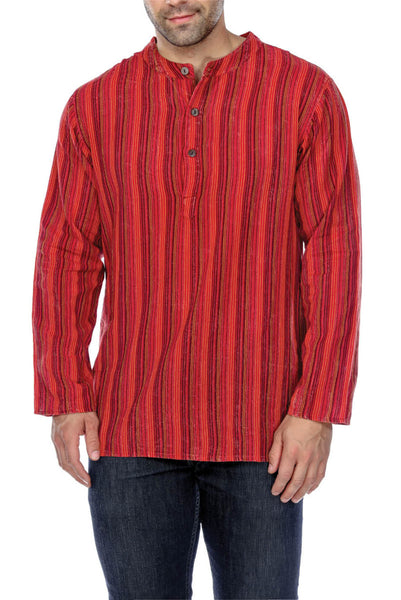 Button Up Striped Kurta Shirt