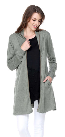 SHAWL COLLAR CARDIGAN WITH POCKETS