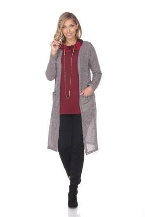 Women's Clothing | Woman's Contemporary Fashion | Brown Light Cardigan Stitched Pockets