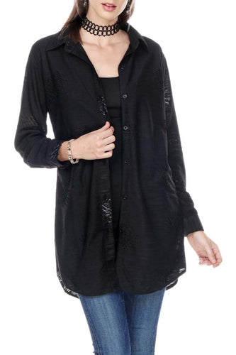 Loose Fit Shirt Front Button