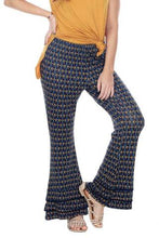 Boho Clothes | Hippie Clothes | Rasta Clothing | Tiedye Clothing | Woman's Contemporary Fashion| Bell Bottom Pants Print Layered Hem