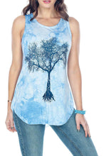 Soft Tree Of Life Tie-Dye Tank Top