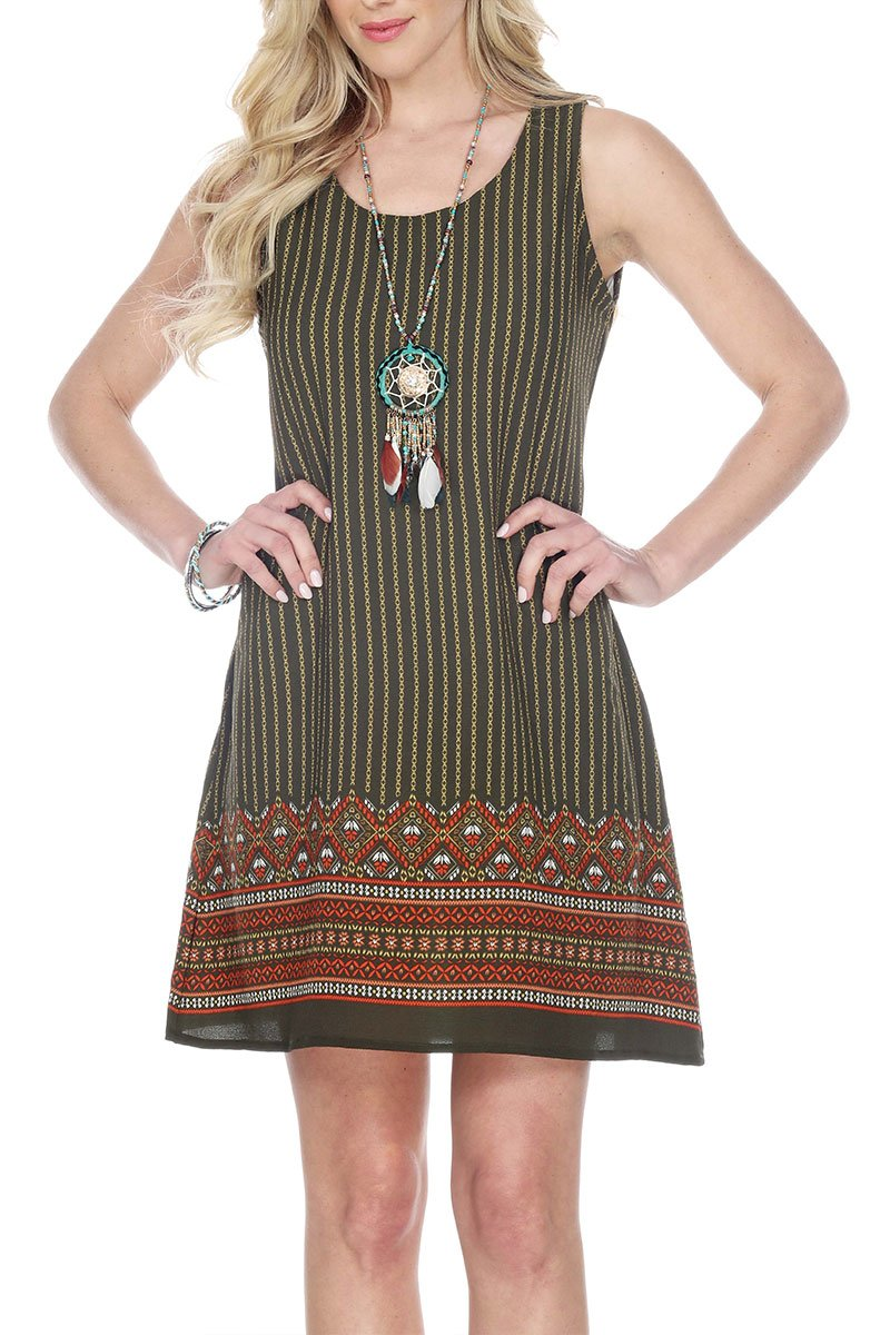 Boho Clothes | Hippie Clothes | Rasta Clothing | Tiedye Clothing | Woman's Contemporary Fashion | Boho Style Dress Print Smock Back