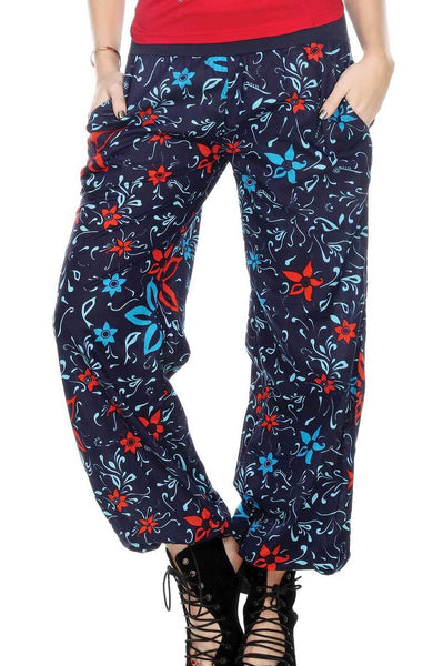 Floral Harem Pant With Pockets