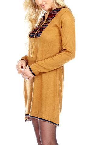 Casual Dress Ethnic Print