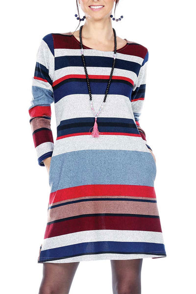 Multi Striped Multicolor Dress