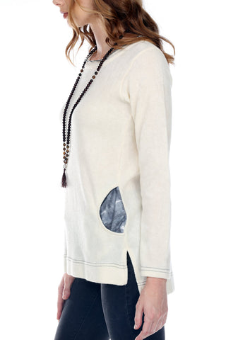 Sweater With Tie Dye Pockets
