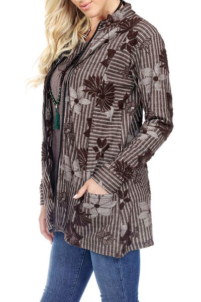 Zip Up Jacket Jacquard