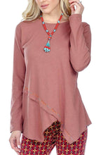 Women's Clothing | Woman's Contemporary Fashion | Cross Hem Tunic With Hand Stitch Details