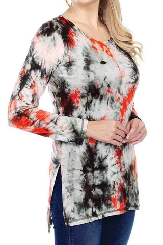 Tiedye clothing for women | Women's Clothing | Comfy Tie-Dye Tunic Slit On Sides