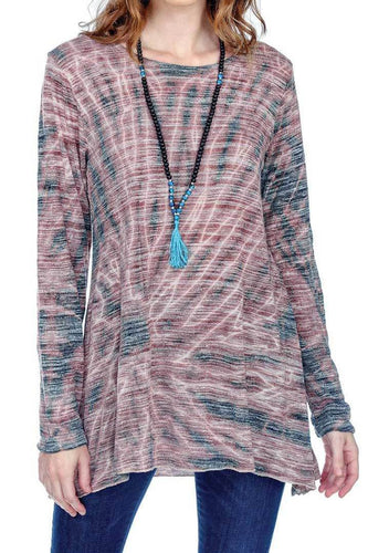Easy Fit Tie Dye Round Neck Tunic