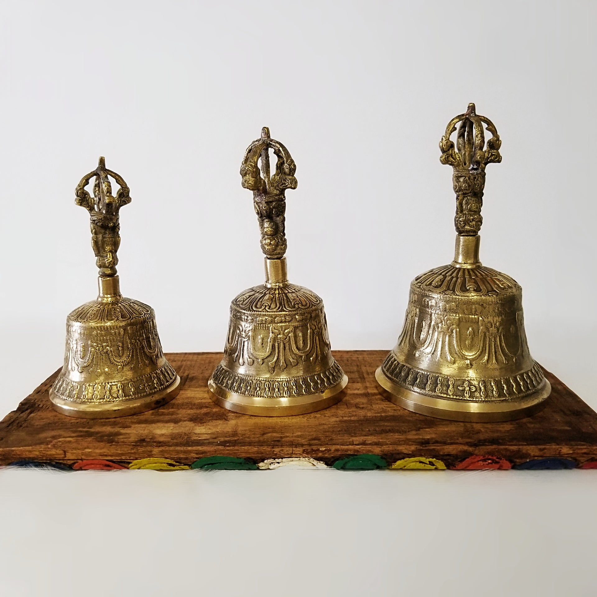 Meditation Tools | Home Decoration | Brass Tibetan Bell Carved