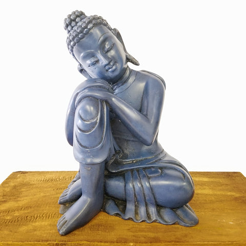PEACEFUL SITTING BLUE BUDDHA