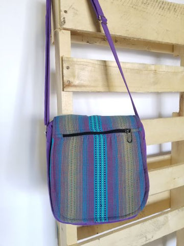 Striped Flap Bag
