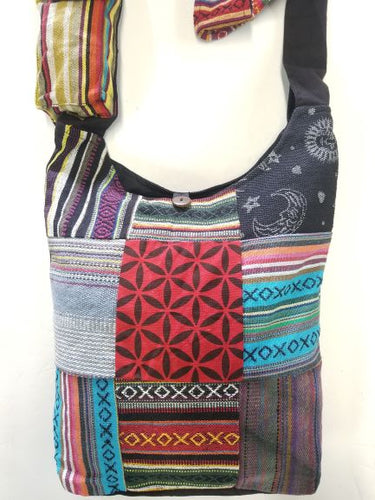 Rasta Bag | All Over Multi Patched Bag
