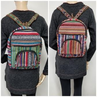 Rasta Bag |  Gheri Mini Backpack Multi Color Striped