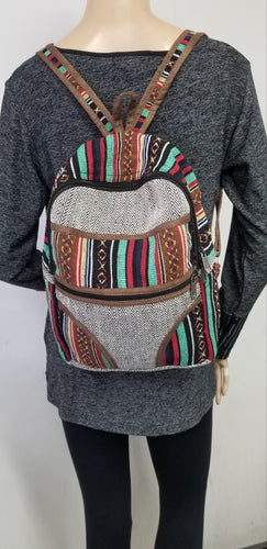 Gheri Mini Backpack Multi Color Striped Design