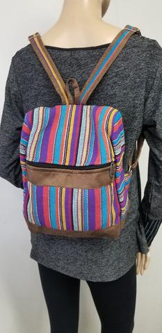 Small Gheri Boho Backpack Striped Multi Color