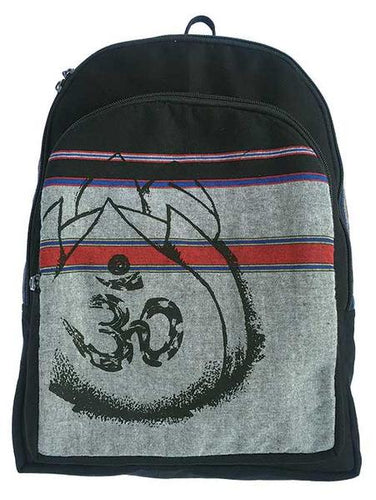 OM LOTUS FLOWER BACKPACK