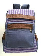 Purple Striped Backpack