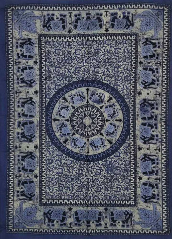 Mandala With Elephants Tapestry