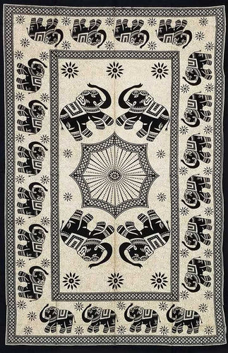 Home Decoration | Wall Hanging | Elephant Family Tapestry