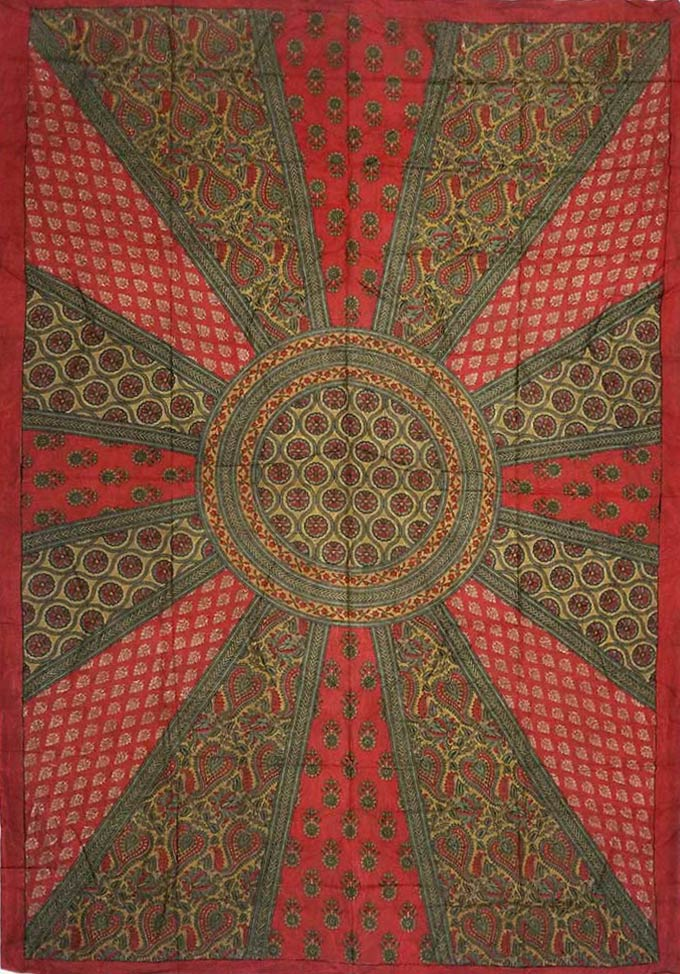 Floral Circle Of Multi Tapestry